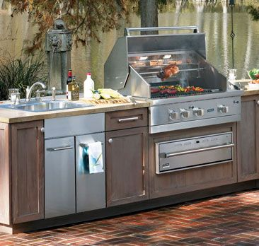 Bring Kitchen Storage Outdoors With Viking Cabinets Atherton Appliance Kitchens Redwood City Ca