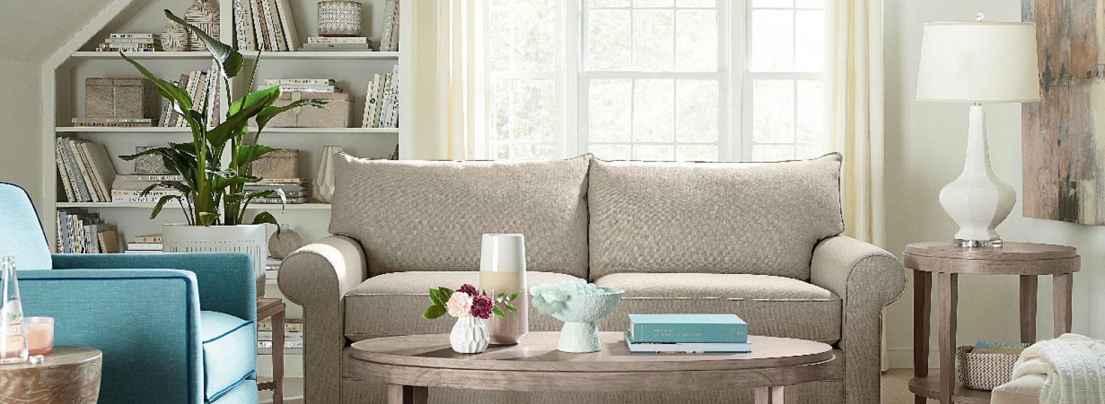 Sunny white living room