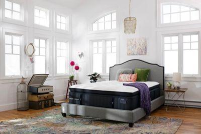 Elegant white bedroom and mattress