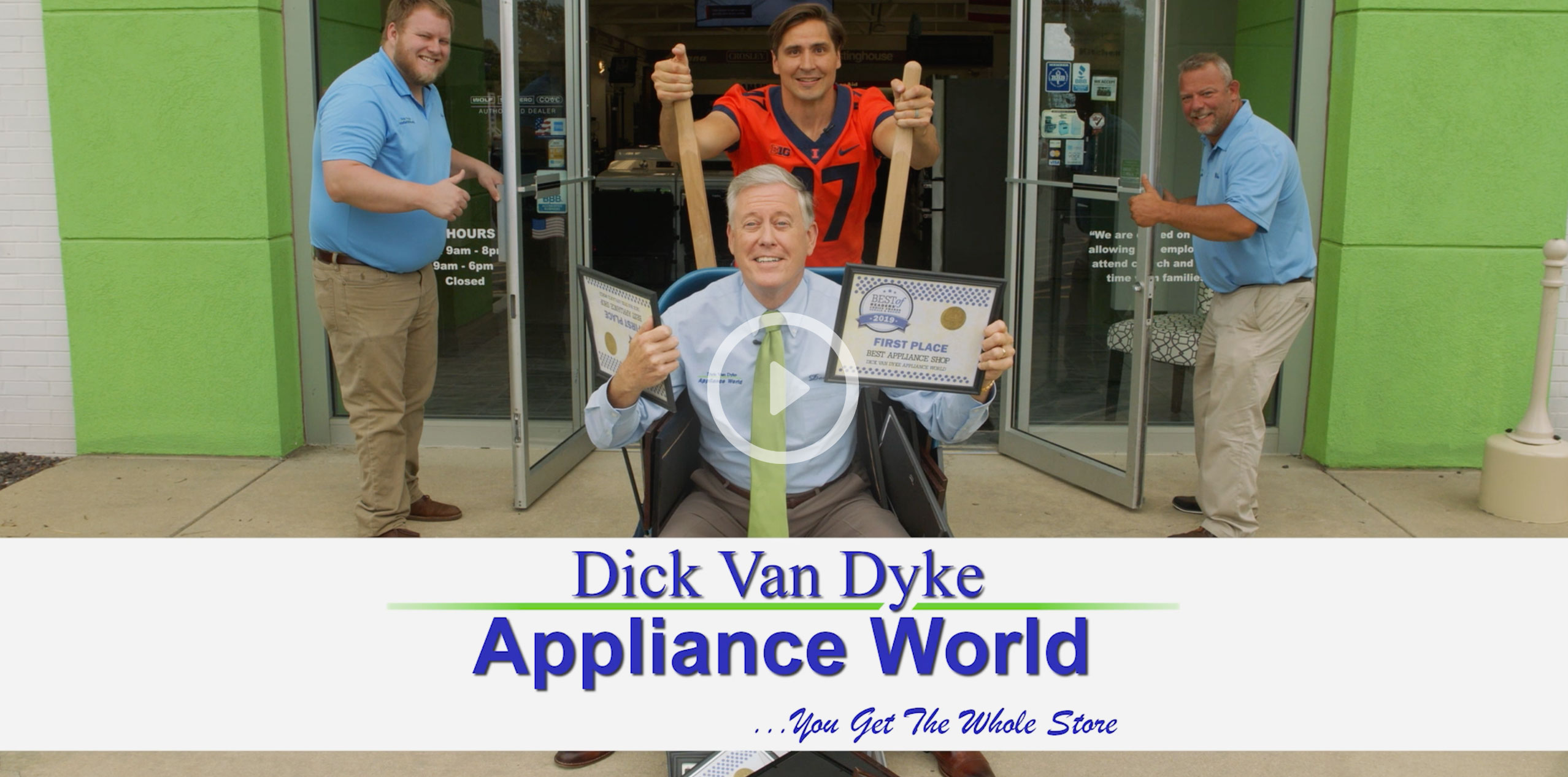 Dick Van Dyke Appliance store video