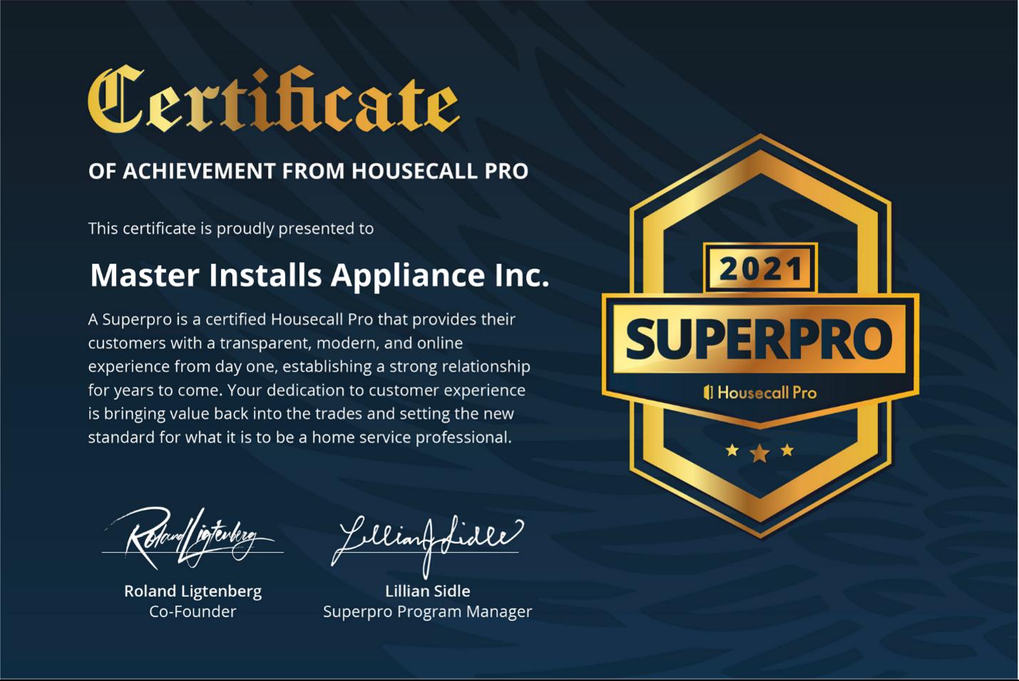 Superpro Certificate