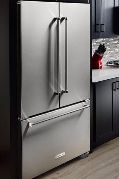 kitchen showcasing fridge