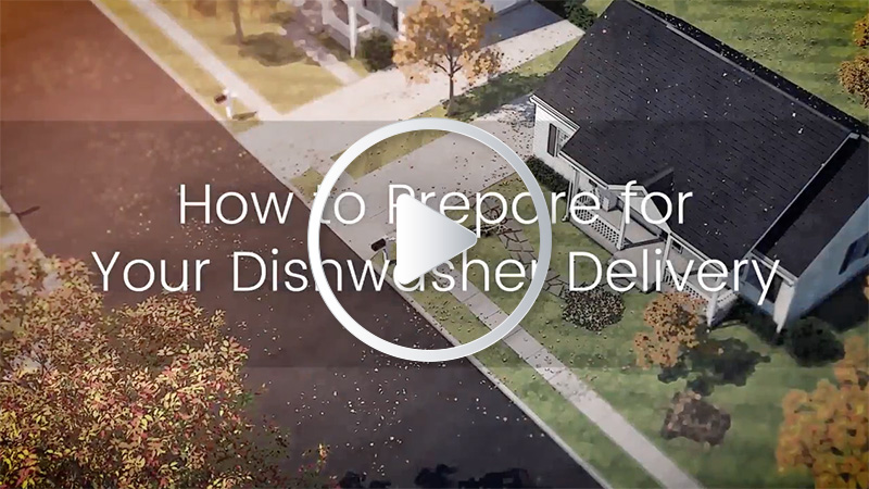How to prepare for your dishwasher delivery